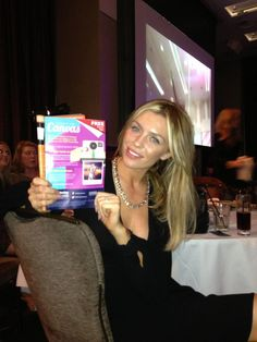 Abbey Clancy with our advert