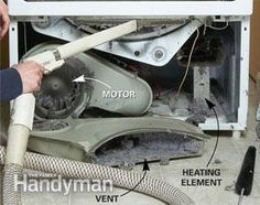 DIY: Dryer Lint Cleaning Tips - shows how to remove dryer panel so you can clear the lint from the inside of your dryer.