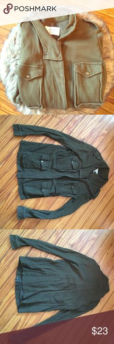 Green Jacket Green Jacket from Madewell (Hi-line) great condition. Soft and comfy. Size medium. Madewell Jackets & Coats Utility Jackets