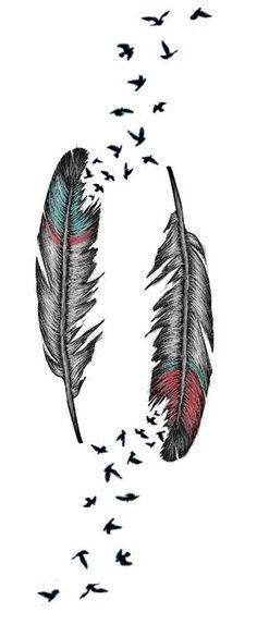 Feather Tattoo by AlliMonae.deviantart.com on @deviantART tatuajes   Spanish tatuajes  tatuajes para mujeres   tatuajes para hombres   diseños de tatuajes http://amzn.to/28PQlav