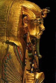 The third and innermost gold coffin of Tutankhamon