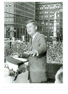 President Kennedy visits Youngstown, 1960.