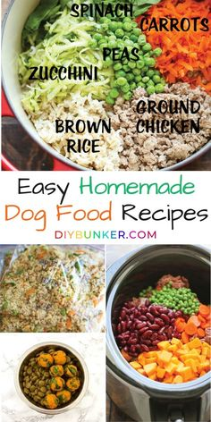 These homemade dog food recipes are the quickest ways to your fur baby's heart! dog food recipes vet approved DIY Dog Food Recipe Ideas You Can Feel Good About Dog Biscuit Recipes, Dog Treat Recipes, Dog Food Recipes, Food Dog, Make Dog Food, Canned Dog Food, Diy Dog Treats, Homemade Dog Treats, Homemade Food For Dogs