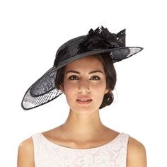 ef37276d J by Jasper Conran Black cut-out applique flower saucer fascinator