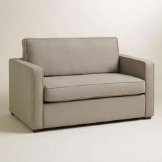 One of my favorite discoveries at WorldMarket.com: Pebble Gray Chad Chair-and-a-Half Twin Sleeper
