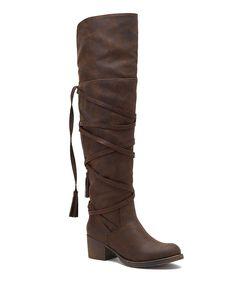 Brown Tassel Boot