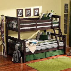 Dallan Twin Over Full Bunk Bed, Espresso