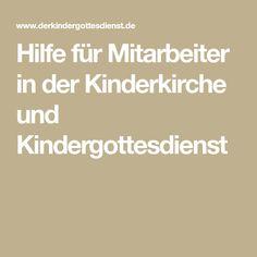Hilfe für Mitarbeiter in der Kinderkirche und Kindergottesdienst