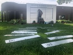 Installing a new monument sign on a monumental hot and humid day in Golden Valley, MN. Monument Signs, Hot And Humid, Business Centre, Sign Design, Signage, Sidewalk, Display, Decor, Floor Space