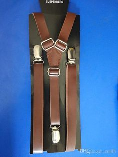 3/4 Inch Wide Thin Suspenders Pu Leather Standard Brown Lingeri Lingere From Emilh, $100.51| Dhgate.Com