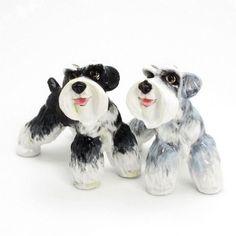Schnauzer Dog Lover Salt Pepper Shaker Gift Collectibles Art Decor B01   madamepomm - Folk Art & Primitives on ArtFire