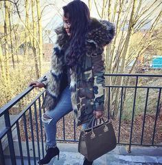 March into the military trend this season in our gorgeous luxe Elise Camouflage Parka Jacket with khaki mix colours faux fur, the ideal piece for teaming with a jumper dress and ankle boots for a glam winter look.  True to size  Camouflage Khaki Camo Mix Khaki Colours Faux Fur Zip fastening  Faux fur hood and lining S (8-10) M (10-12) L (12-14)