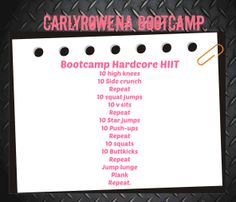 The LAST Bootcamp! Complete this before i see you tonight! xox http://www.youtube.com/watch?v=MmsO3DnVBjE