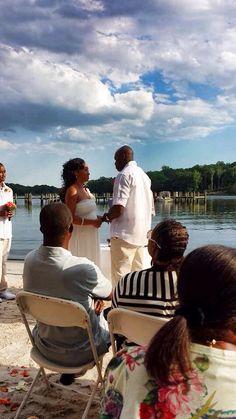 Waterfront beach wedding at Vera's Beach Club Lusby, Maryland