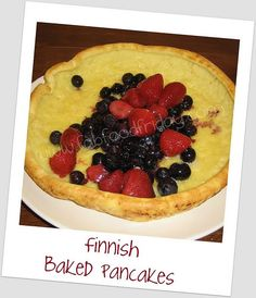 Finnish Baked Pancakes and Crepes from @Fab Food Friday as guest post on @Happy Housewife
