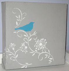 Kammy's Korner: Upcycled and Stenciled Canvases