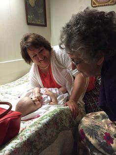 Felicity with Nana and Nannie