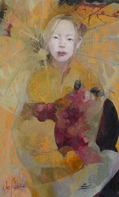 Youko, Huile sur toile de Françoise de Felice, 2017