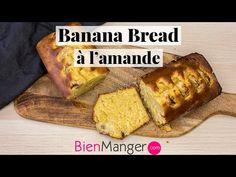 Envie d'un cake à la banane et aux amandes ? Découvrez la recette simple et rapide du Banana Bread à l'amande moelleux pour un cake gourmand et plus sain. Un Cake, Banana Bread, French Toast, Muffins, Breakfast, Desserts, Food, Cakes, Almonds