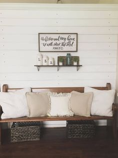 43 Inexpensive Diy Shiplap Wall Ideas For Your House - Diy Farmhouse Coffee Table, Farmhouse Style Coffee Table, Shiplap Wall Diy, Diy Shiplap, Farmhouse Chic, Diy Wainscoting, Shabby Furniture, Home Decor, Pallet Wall Decor