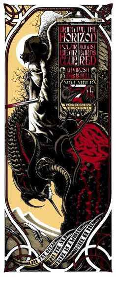 Awesome Concert Posters   OMG Posters! » Archive » Anville's Bring Me The Horizon Poster