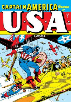 U.S.A. Comics Vol 1 8 | Marvel Database | FANDOM powered by Wikia Captain America Comic, Captain America Shield, Vintage Comic Books, Vintage Comics, Pulp Fiction Comics, Marvel Fan Art, War Comics, Classic Comics, Science Fiction Art