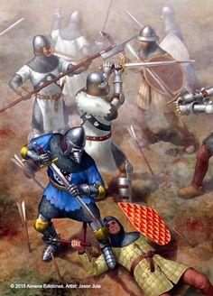Bertrand Du Guesclin at the battle of Najera