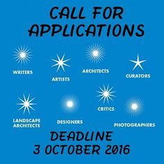Van Eyck - Call for Applications: work period 2017