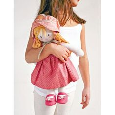 Doll in Pink Sewing Pattern Download - Toy Sewing Patterns to Download - PDF Craft Pattern Downloads - Craft eBooks and Downloads