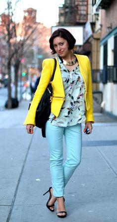 love this color combo, bright colors, neon, sarı, renk, kombinasyon, style tip