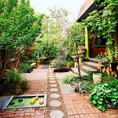 23 small yard design solutions   Playful front yard   Sunset.com