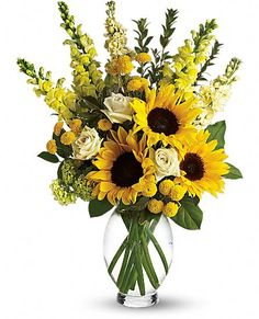 Here Comes The Sun by Teleflora Flowers, Here Comes The Sun by Teleflora Flower Bouquet - Teleflora.com