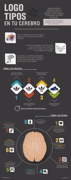 Infografía sobre Neuromarketing: cómo impactan los logos en tu cerebro. #marketing