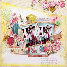 """DT Layout by Iris Babao Uy for Webster's Pages """"Beautiful Chic"""" collection..."""