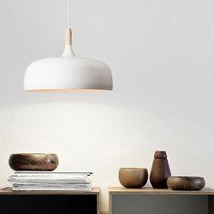 Small Wood Pendant Light