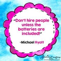 Before you hire, be sure to check out these 5 signs a potential employee will train your team of precious energy, creativity + joy http://michaelhyatt.com/batteries-included.html?utm_content=buffer83db6&utm_medium=social&utm_source=facebook.com&utm_campaign=buffer