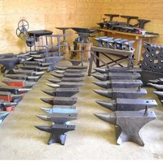 anvilcustoms:A few anvils to toss around.  #anvil #blacksmithanvil #blacksmithtools #AnvilCustoms #anvils