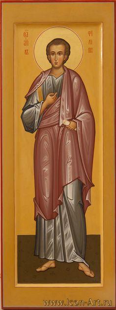 San Filippo, apostolo - icona di misura cm 20,5x52 (dal sito icon-art.ru) Church Icon, Byzantine Art, Religious Icons, Orthodox Icons, Christian Art, Christianity, Saints, Prayers, Religion