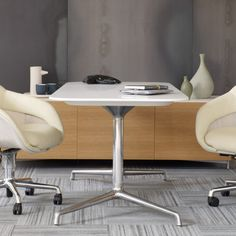 Crafted with equal parts intelligent design and beauty, SW_1 Conference Tables and Occasional Tables by Coalesse welcome you to collaborative and social settings. #occasionaltable #officedesign #interiordesign #minimal #workplace Meeting Table, Occasional Tables, Intelligent Design, Conference Table, Workplace, Minimal, Interior Design, Furniture, Beauty