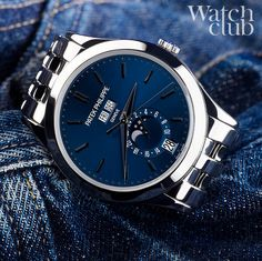 We all know how Elvis felt about his blue suede shoes, but I wonder what he'd make of Patek's blue sunburst dial 5396/IG-001... I know which I'd prefer see more pics of this beauty on www.watchclub.com #winner