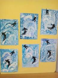 Bildergebnis für zimní městečko ve výtvarce Winter Art Projects, School Art Projects, Olympic Crafts, January Art, Atelier D Art, 2nd Grade Art, Kindergarten Art, Art Lessons Elementary, Middle School Art