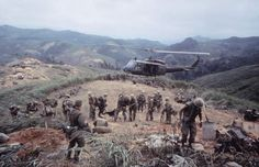 Scene in Vietnam during Operation Pegasus, 1968.