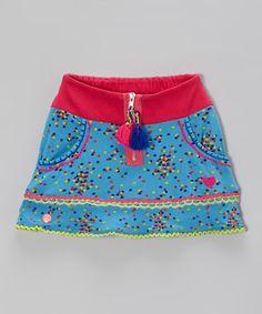 Look what I found on #zulily! Blue & Green Dot Skirt - Toddler #zulilyfinds