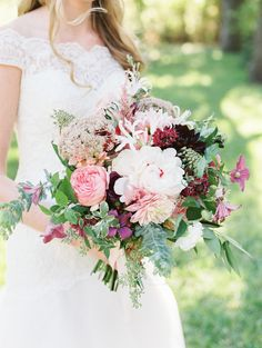 Burgundy and Plum Bouquet | photography by http://www.jessicascottphoto.com/