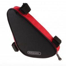 Roswheel 12657 Mountain Bike Trigonometric Crossbeam Tool Bag Black with Red- Intl