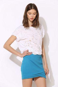 bluejuice Textured Crossway Mini Skirt #urbanoutfitters