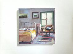 original acrylic painting bedroom painting eclectic