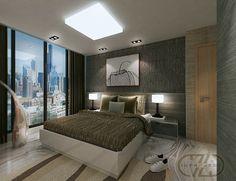 Master bedroom design aprtmnt unit L show unit interior design