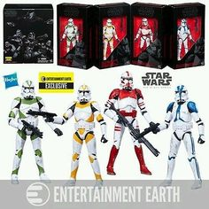 TV Movie and Video Games 75708: Star Wars The Black Series Clone Troopers Of Order 66, 6 Inch Action Figure Set -> BUY IT NOW ONLY: $85 on eBay!