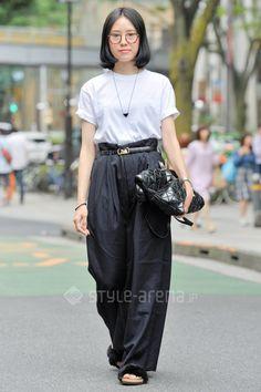 Kaori   UNIQLO COMME des GARÇONS TOGA CELINE MONKI BAO BAO ISSEY MIYAKE    5th week  Aug. 2015   Omotesando   TOKYO STREET STYLE   TOKYO STREET FASHION NEWS   style-arena.jp